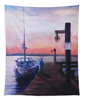 Sunset At Rocky Point Tapestry