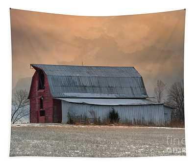 Sunset Barn Tapestry
