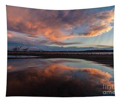 Sunset Clouds Flourish Tapestry