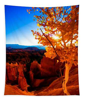 Sunset Fall Tapestry
