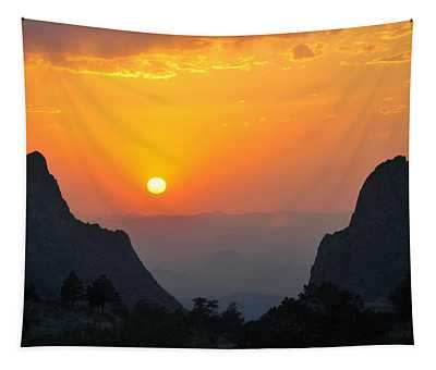 Sunset In Big Bend National Park Tapestry