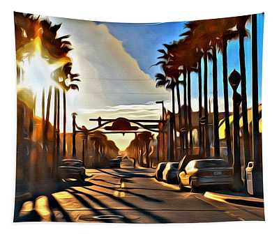 Sunset In Daytona Beach Tapestry