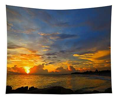 Sunset In Paradise - Beach Photography By Sharon Cummings Tapestry