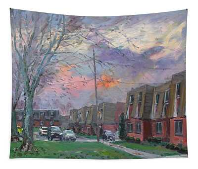 Sunset In Royal Park Apartments Tapestry