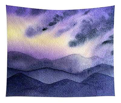 Sunset In The Mountains Tapestry