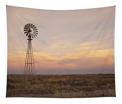 Sunset On The Texas Plains Tapestry