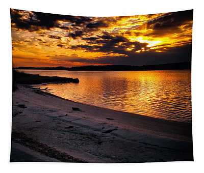 Sunset Over Little Assawoman Bay Tapestry