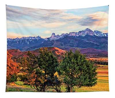 Sunset Over Owl Creek Pass Tapestry