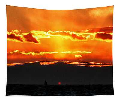 Sunset Over Sound Tapestry