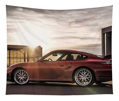 Sunset Red Tapestry