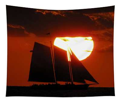 Key West Sunset Sail 5 Tapestry