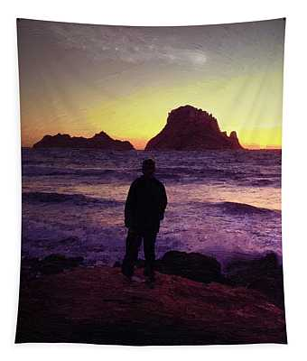 Sunset Sentinel Tapestry