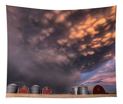 Sunset Storm Clouds Canada Tapestry