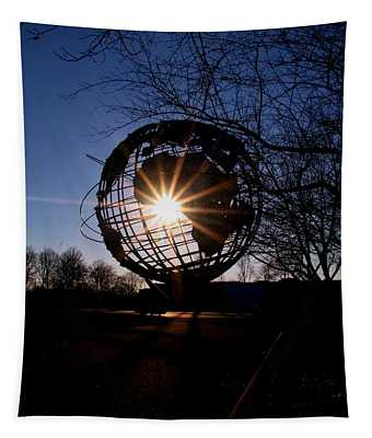 Sunset Through The Unisphere Tapestry