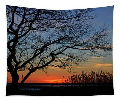 Sunset Tree In Ocean City Md Tapestry