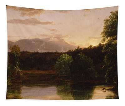 Sunset  View On Catskill Creek Tapestry