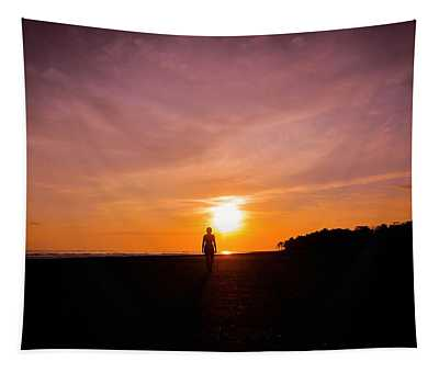 Sunset Walk Tapestry