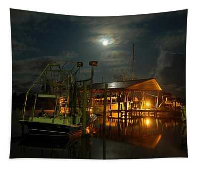 Super Moon At Nelsons Tapestry