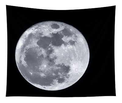 Super Moon Over Arizona  Tapestry