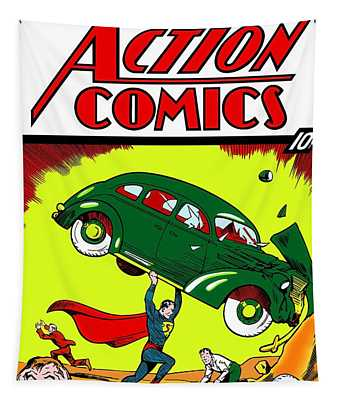 First Edition - Superman Comic Book  Tapestry