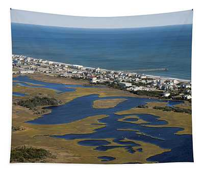 Surf City North Carolina Aerial Tapestry