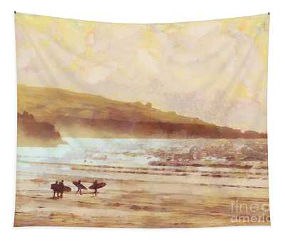 Surfer Dawn Tapestry