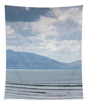 Surfer On The Beach, Inch Strand Tapestry