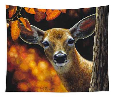 Whitetail Deer - Surprise Tapestry