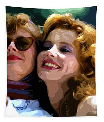 Susan Sarandon And Geena Davies Alias Thelma And Louis - Watercolor Tapestry