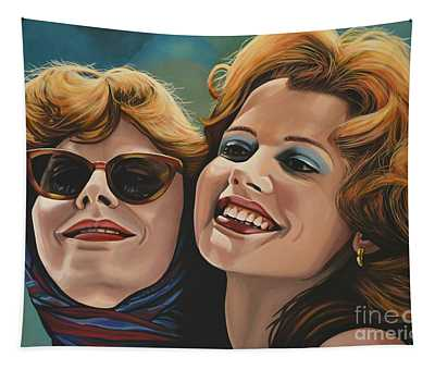 Susan Sarandon And Geena Davies Alias Thelma And Louise Tapestry