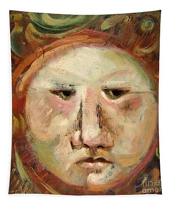 Suspicious Moonface Tapestry