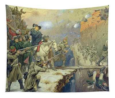 Suvorov Crossing The Devils Bridge In 1799, 1880 Wc On Paper Tapestry