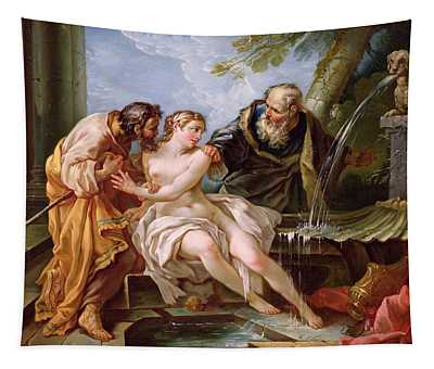 Suzanna And The Elders, 1746 Oil On Canvas Tapestry