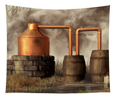Swamp Moonshine Still Tapestry