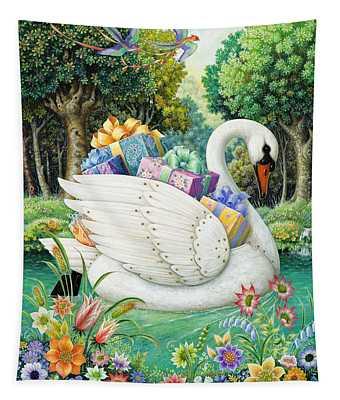 Swan Boat Tapestry