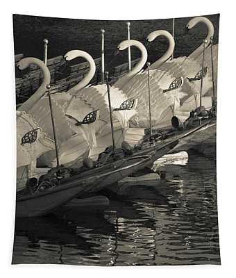 Swan Boats In A River, Boston Public Tapestry