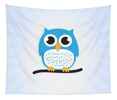 Sweet And Cute Owl Tapestry