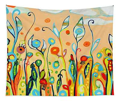 Sweet Peas And Poppies Tapestry