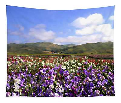 Sweet Peas Galore Tapestry
