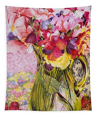 Sweet Peas With Cherries And Strawberries Tapestry