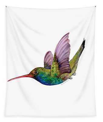 Swooping Broad Billed Hummingbird Tapestry