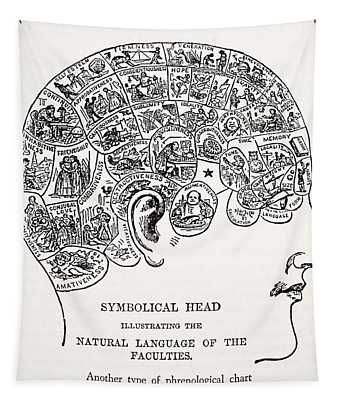 Symbolical Head Tapestry
