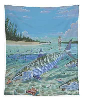 Tailing Bonefish In003 Tapestry