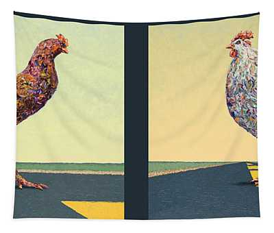 Tale Of Two Chickens Tapestry