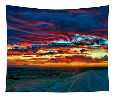 Taos Sunset Iv Tapestry