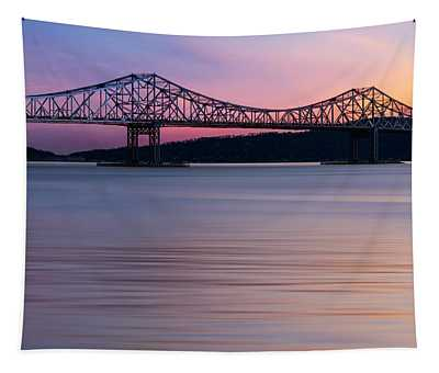 Tapestry featuring the photograph Tappan Zee Bridge Sunset by Susan Candelario