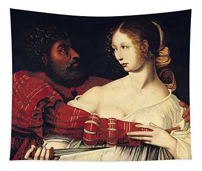 Tarquin And Lucretia Oil On Panel Tapestry