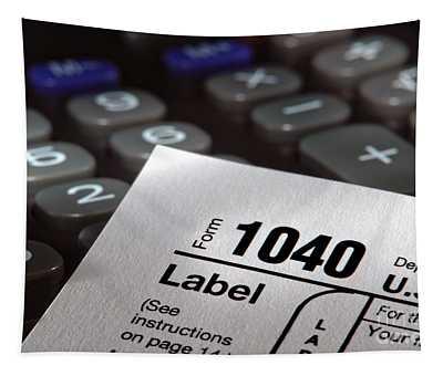 Tax Form 1040 Tapestry