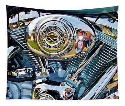 V-twin Blue Tapestry