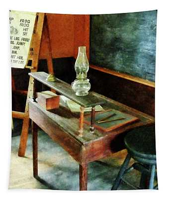Teacher's Desk With Hurricane Lamp Tapestry